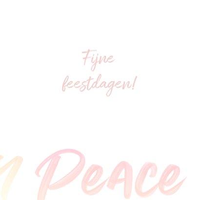 Love Peace Joy kerstkaart typografie 3