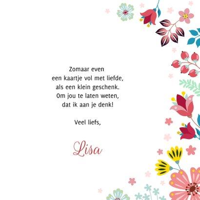 Love valentijnskaart met bloemen en planten 3