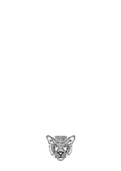 Luipaard zwart/wit illustratie 2