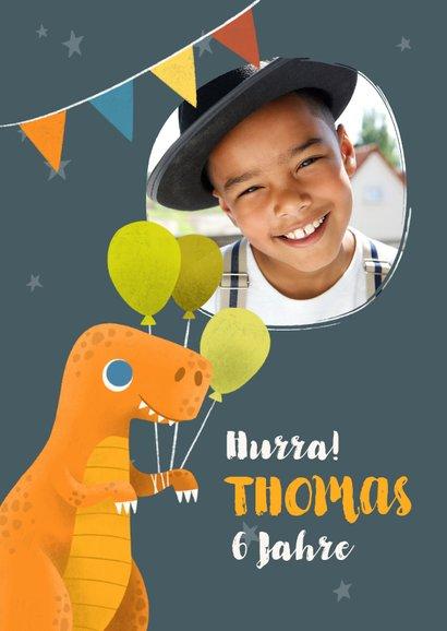 Lustige Dino-Glückwunschkarte zum Geburtstag 2