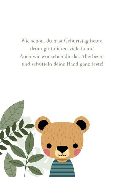 Lustige Geburtstags-Glückwunschkarte mit Bärenjunge 2