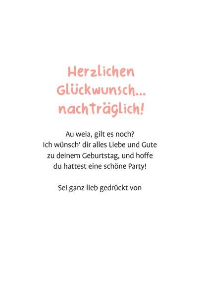 Lustige Geburtstagskarte Cupcake 'Zu spät' 3