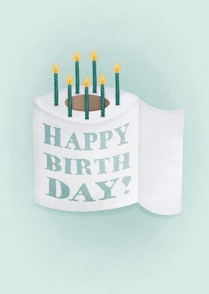 Lustige Glückwunschkarte WC Papier mit Kerzen 2