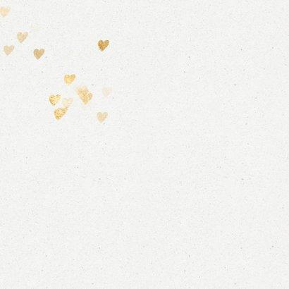 Luxe kerstkaart met gouden kerstboom hartjes 2