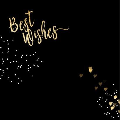 Luxe kerstkaart zwart goud Merry Christmas 2