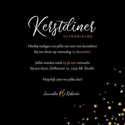 luxe uitnodiging kerstdiner sterren goud confetti 3