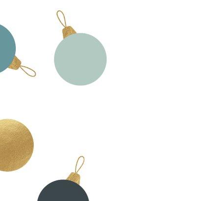 Luxe zakelijke kerstkaart met kerstballen 2