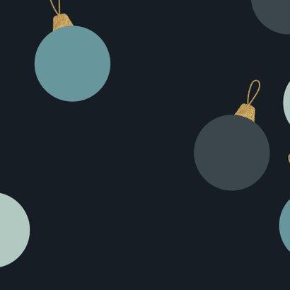 Luxe zakelijke kerstkaart met kerstballen Achterkant
