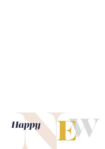 Magazine typografie nieuwjaarskaart 2