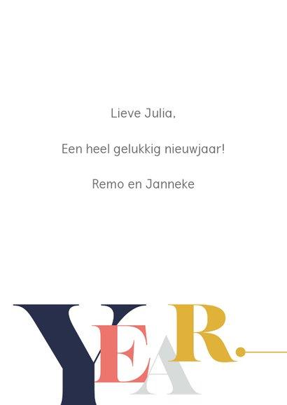 Magazine typografie nieuwjaarskaart 3