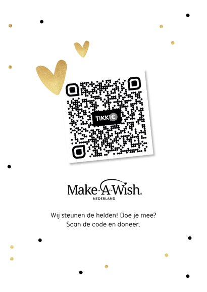 Make-A-Wish kaart doe een dansje zing een liedje 2