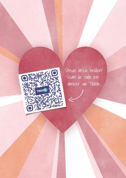 Make-A-Wish kaart Ik mis je met hartjes en stralen 2
