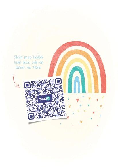 Make-A-Wish kaartje met regenboogje en hartjes houd hoop 2