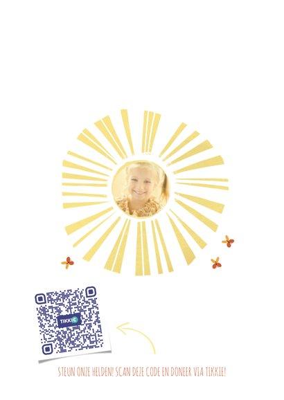 Make-A-Wish Vrolijke kaart met Zonnestralen en foto 2