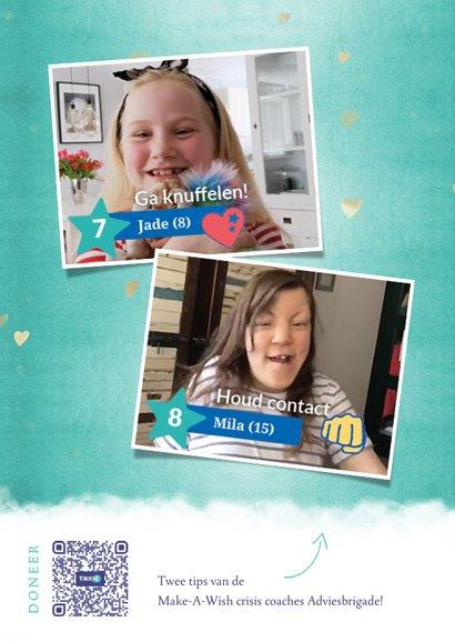 Make-A-Wish zomaar moederdagkaart met gouden hart knuffel 2