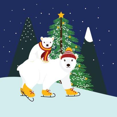 Mama ijsbeer en haar jonkie wensen jullie fijne dagen toe 2