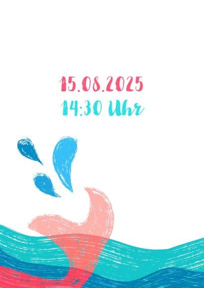 Meerjungfrau Einladung zur Schwimmparty  2