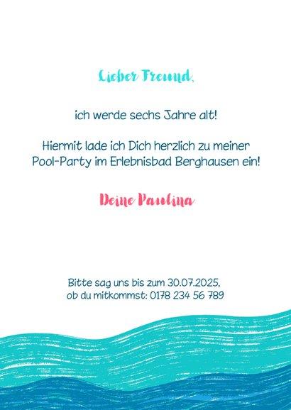 Meerjungfrau Einladung zur Schwimmparty  3