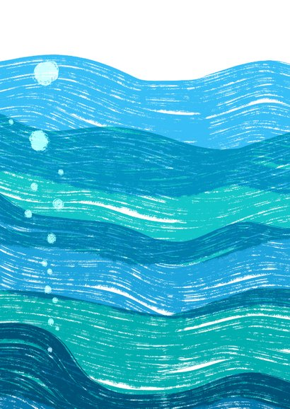 Meerjungfrau Einladung zur Schwimmparty  Rückseite
