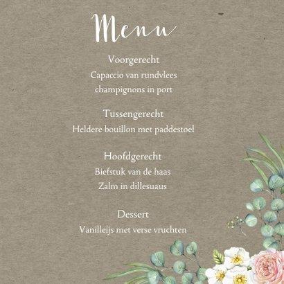 Menu romantische rozen 3