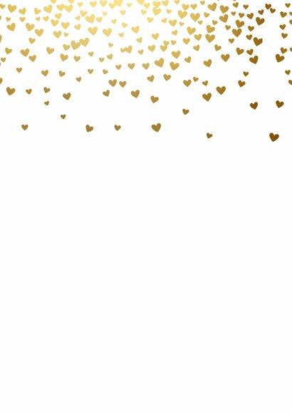 Menukaart gouden hartjes 2
