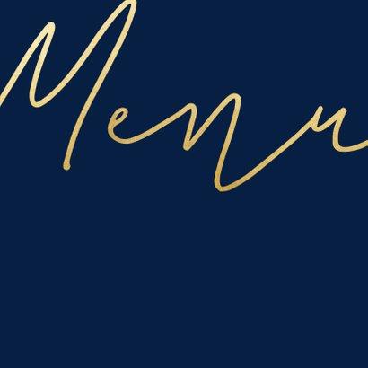 Menukaart met gouden 'MENU' vierkant 2