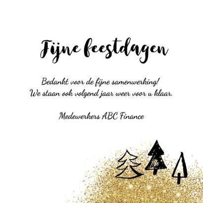 Merry Christmas met gouden glitters 3