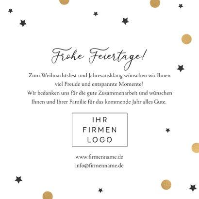 Merry-Christmas-Weihachtskarte Punkte und Sterne 3
