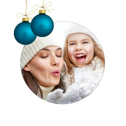 Merry X-Mas Blue Christmas balls 2020 2