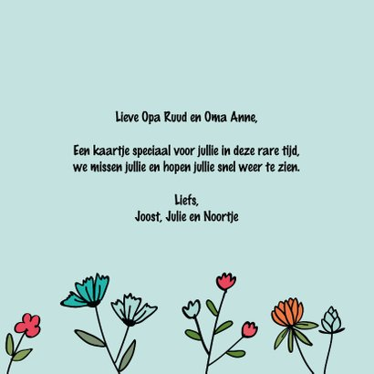Miss you so much - hearts and flowers - mis je kaart 3