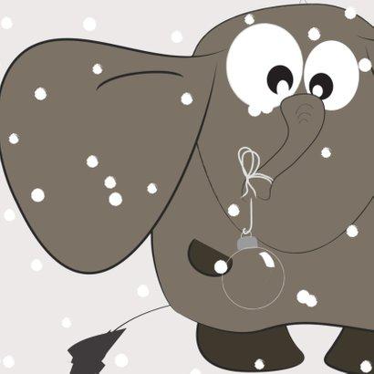Mo Cards kerstkaart sneeuw  3