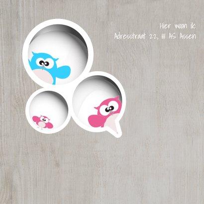 Mo Cards uiltjes gezin lief geboortekaartje 2