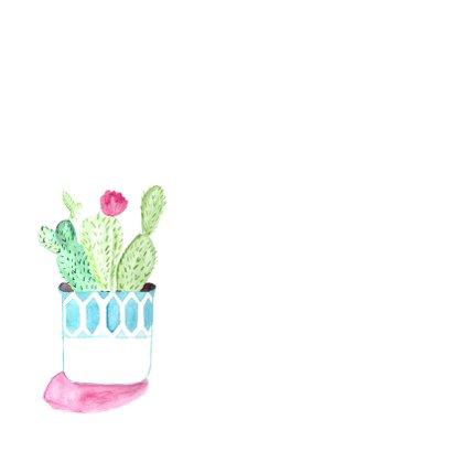 Moderne felicitatie kaart nieuw huis met cactus! 2