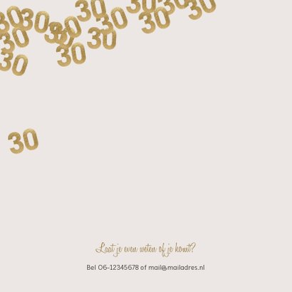 Moderne huwelijk jubileum uitnodiging 30 jaar confetti 2