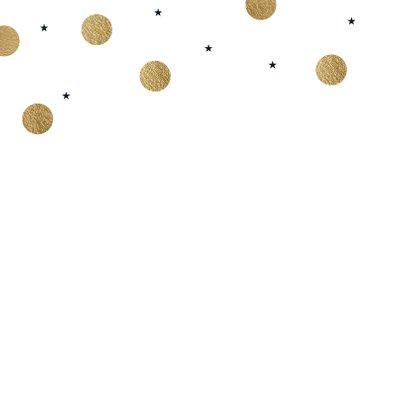 Moderne kerstkaart foto dots goud 2