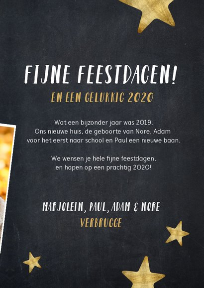 Moderne kerstkaart fotocollage polaroids hoogtepunten 2019 3