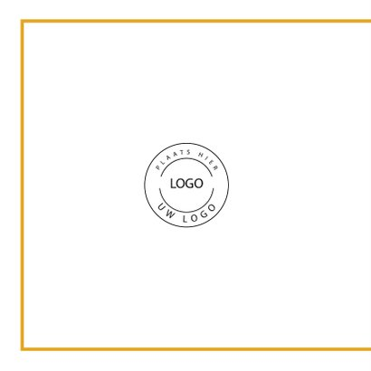 Moderne kerstkaart goud met eigen logo   2