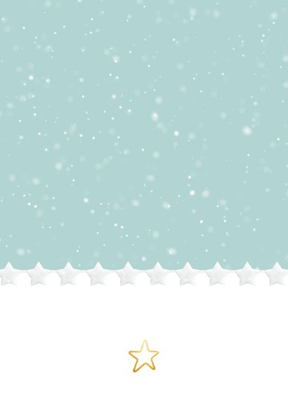 Moderne kerstkaart met winter sfeer met sneeuwvlokjes kader Achterkant