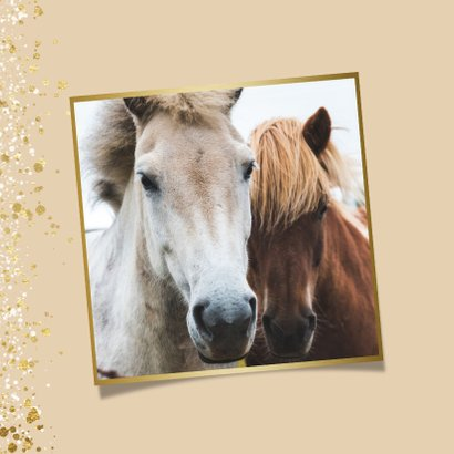 Moderne nieuwjaarskaart met goud en wit spetter kader 2