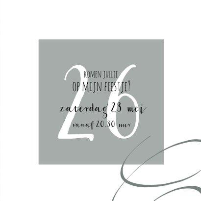 Moderne, stijlvolle uitnodiging slingers 3