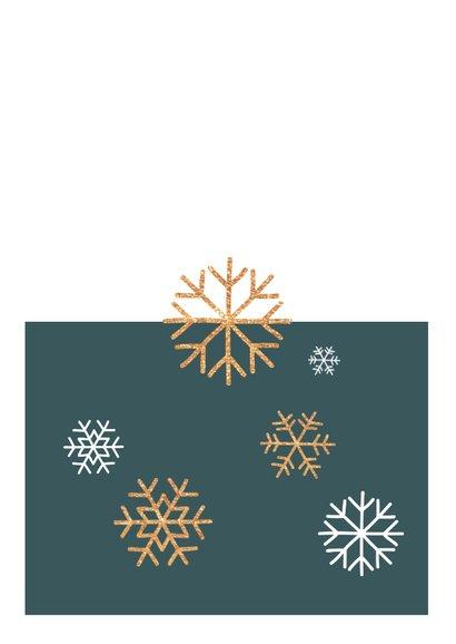 Moderne, stijlvolle zakelijke kerstkaart met eigen foto Achterkant