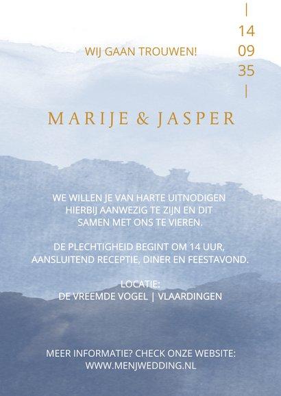 Moderne trouwkaart met aquarel 3