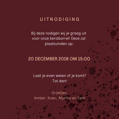 Moderne uitnodiging Kerstborrel 3