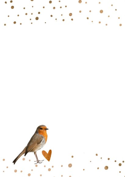 Moderne verjaardagskaart vogel -  LO 2