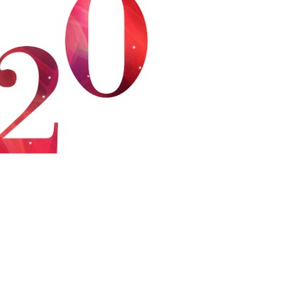 Moderne zakelijke kerstkaart 2021 in rood met goud 2