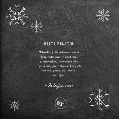 Moderne zakelijke kerstkaart hout, kerstboom, tekst & sneeuw 3