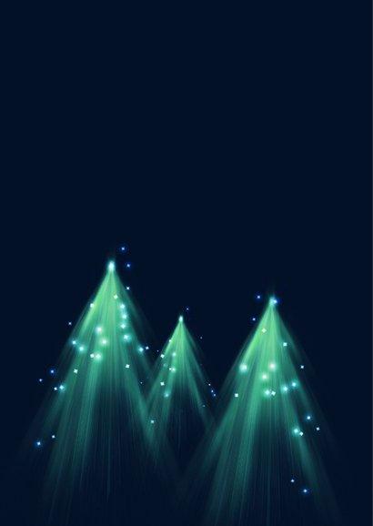 Moderne zakelijke kerstkaart kerstboom lichtjes 2