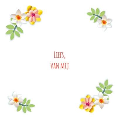 Moederdag fotokaart met bloemen 3