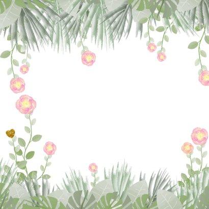 Moederdag hippe kaart bloemen en botanica 2