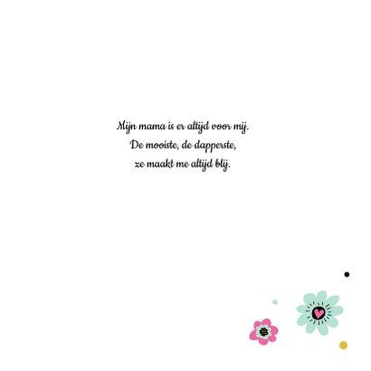 Moederdag kaart bloemen hartjes 3